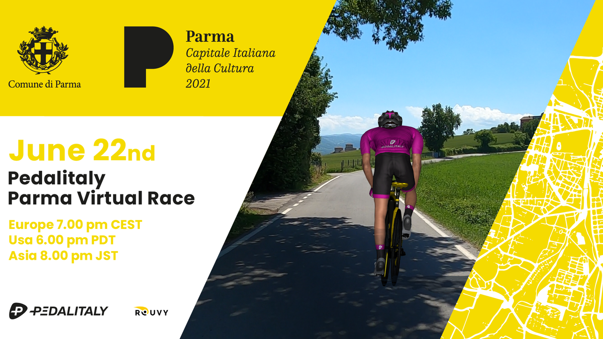 The Pedalitaly PARMA Virtual Race visits the cultural heart of Emilia-Romagna