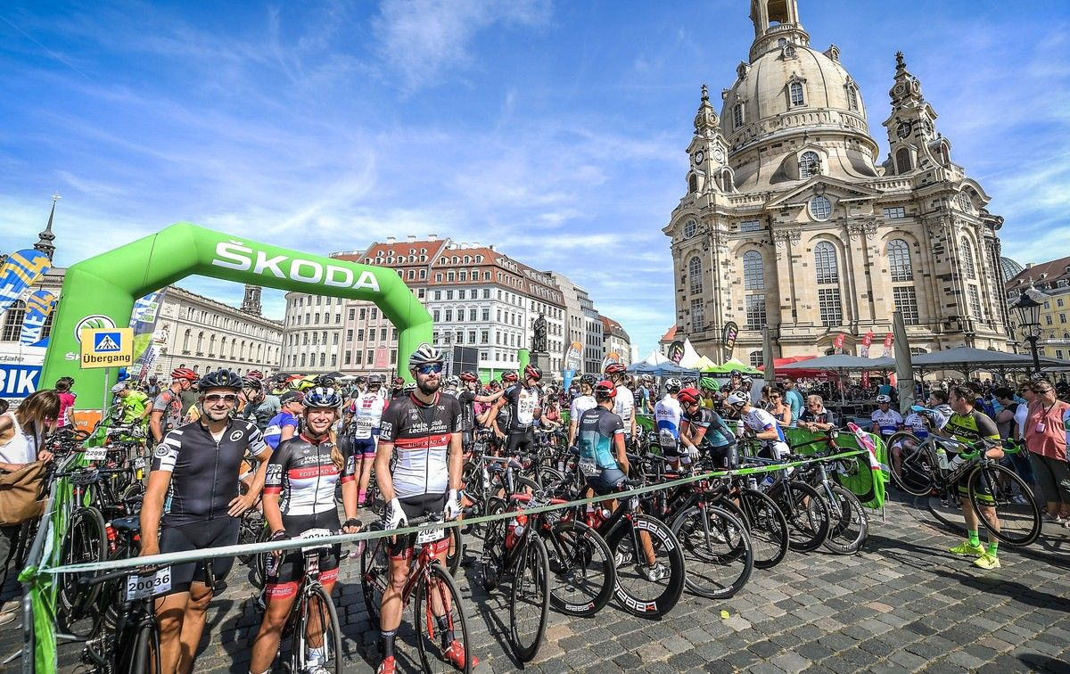 """""""ŠKODA Velorace Dresden"""" - The most beautiful cycling city tour in Germany goes with ROUVY to the 1st Virtual Dresden Edition"""