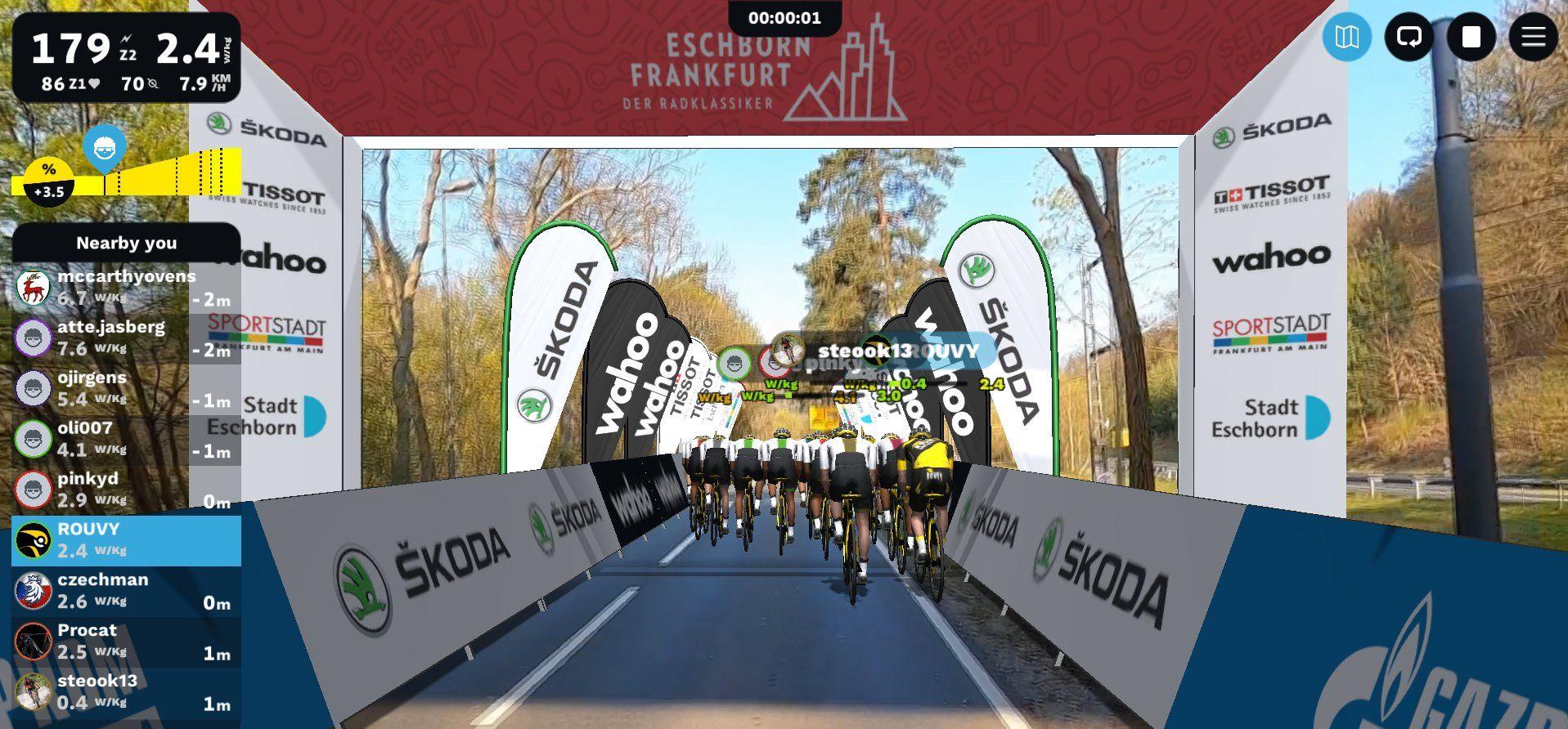 Virtual Rad-Bundesliga by The German Classic ESCHBORN -FRANKFURT on ROUVY on May 1st